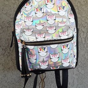 Mini Backpack; Unicorn themed